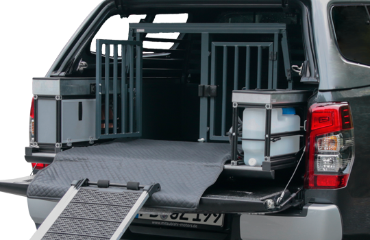 Pickupumbau Hundebox Mitsubishi L200 2020 - Doppelkabine